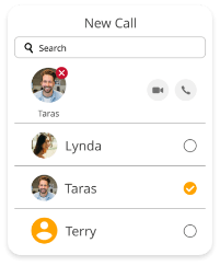 Voice and video chat